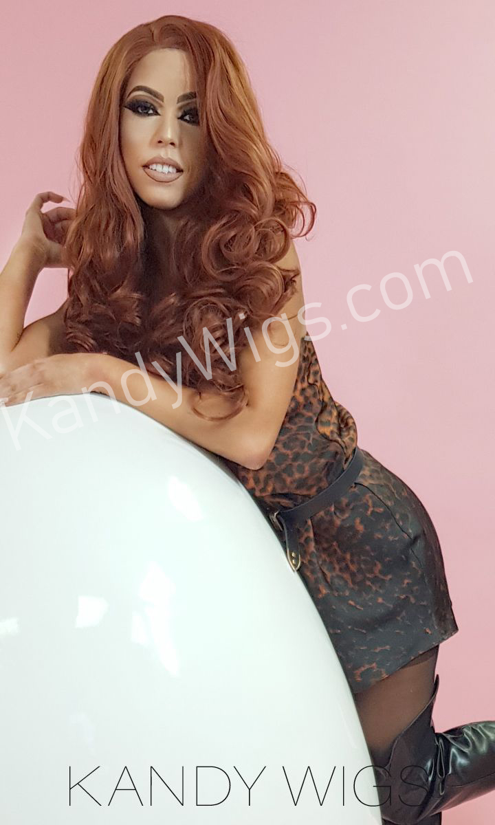 LACE FRONT WIG STYLE COL 30 WAVY LONG