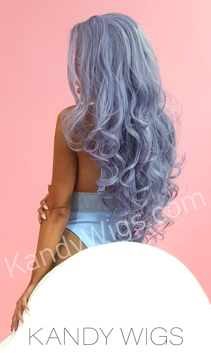 LACE FRONT WIG STYLE PURPLE WAVE LONG